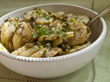 Serious Salads: Patricia Wells's Warm Potato Salad with Capers, Scallions & Mint Recipe