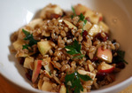 Dinner Tonight: Apple, Almond, and Smoked Mozzarella Farro Salad Recipe