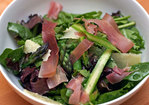 Dinner Tonight: Shaved Asparagus, Pea, and Prosciutto Salad Recipe
