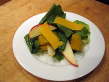 Dinner Tonight: Escarole Salad with Squash and Cheddar Recipe