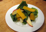 Dinner Tonight: Escarole Salad with Squash and Cheddar Recipe