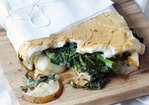 Broccoli Rabe, Pear, and Fontina Sandwich Recipe