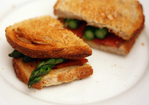 Dinner Tonight: Asparagus and Bacon on Buttered Toast Recipe
