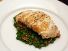 Dinner Tonight: Grouper with Peas and Saffron (Mero en Amarillo) Recipe