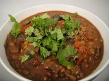 Cook the Book: Lentil and Eggplant Chili Mole Recipe