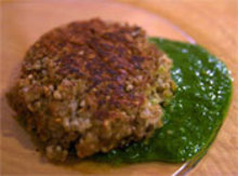Sesame-Crusted Oat Fritters with Chimichurri Dipping Sauce Recipe