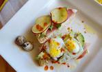 Avocado Tartine with Quail Eggs, Prosciutto & Goat Cheese Recipe