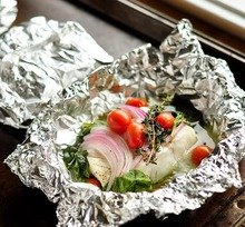 Easy Dinner Recipe: Baked Fish, Spinach, and Tomatoes in Foil Packets Recipes from The Kitchn Recipe