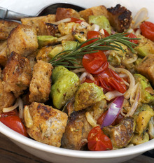Recipe: Panzanella With Roasted Squash and Tomatoes Recipe