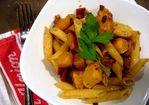 Recipe: Penne with Acorn Squash and Pancetta Recipe