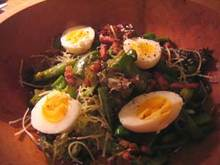 Recipe: Pepper and Pancetta Salad with Eggs Recipe