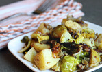 Recipe: Roasted Potatoes with Brussels Sprouts & Bacon Recipe