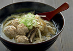 Sarah Marx Feldner&#x27;s Udon Soup with Chicken Meatballs Recipe