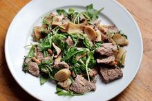 Escape to Italy with a Recipe: Straccetti con Rucola e Funghi Recipe