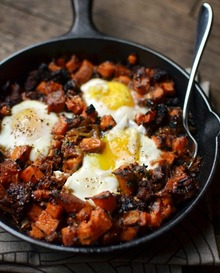 Brunch Recipe: Sweet Potato Hash with Sausage & Eggs Recipe