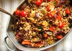 Recipe: Warm Farro Salad with Roasted Vegetables and Fontina Recipe