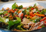 Summer Salad with Turkey, Greens, and Chickpeas Recipe