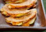 Apple and Cheddar Whole Wheat Quesadillas Recipe