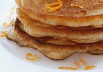Banana Bread Pancakes with Cinnamon, Honey and Orange Mascarpone Recipe