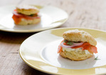 Herb Biscuits with Smoked Salmon and Creamy Chive Spread Recipe