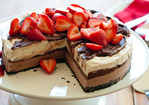 Chocolate-Strawberry Ice Cream Cake Recipe
