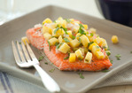 Baked Salmon with Warm Mango Salsa Recipe