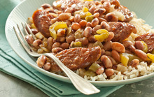 Anasazi Beans and Rice with Kielbasa Recipe