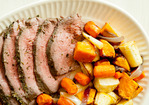 Herb-Rubbed Sirloin Tri-Tip Roast with Root Vegetables Recipe