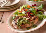 Grilled Pork Chops with Chimichurri Recipe