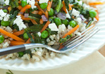Vegetable Brown Rice with Feta Cheese Recipe