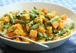 Tempeh Curry with Sweet Potatoes and Green Beans Recipe