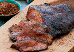 Cedar-Grilled Flat Iron Steaks with Coffee Rub Recipe