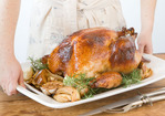 Honey and Rosemary Brined Turkey with Herb Riesling Gravy Recipe
