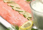 Poached Salmon with Fresh Horseradish Sauce Recipe