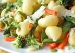 Pasta with Herb Purée and Vegetables Recipe