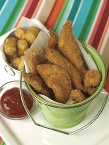 Chicken Fingers with Tots Recipe