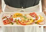 Heirloom Tomato and Basil Salad with Buttermilk Dressing Recipe