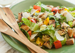 Grilled Veggie Caesar Salad with Sourdough Croutons Recipe