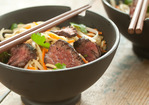 Five-Spice Hanger Steak with Rice Noodles Recipe