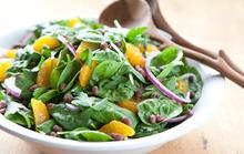 Spinach Salad with Aduki Beans and Satsuma Vinaigrette Recipe