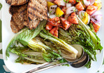 Grilled Tomato and Romaine Salad Recipe