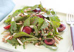 Cherry-Arugula Salad with Almonds and Tarragon Recipe