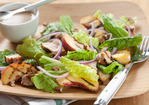 Grilled Chicken Salad with Peach-Pecan Vinaigrette Recipe