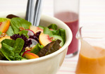 Summer Salad with Peach-Walnut Dressing Recipe