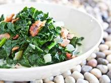 Kale and Bacon, Caribbean Style Recipe