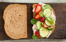 Cucumber Sandwiches with Strawberries and Watercress Recipe