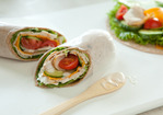 Turkey and Cucumber Wrap with Ranch Dressing Recipe