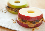 Apple Sandwiches with Granola and Peanut Butter Recipe