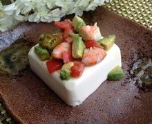 Quick Avocado Jalapeño Balsamic Shrimp on Tofu Recipe