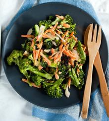 Quick Recipe: Broccoli Salad with Carrots and Currants Recipe